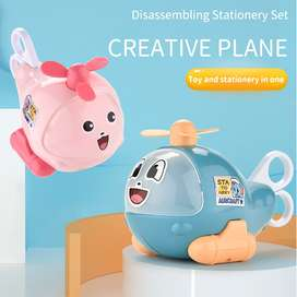 2 in 1 Creative Stationery Toy Plane Stationery Aircraft Model