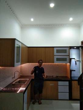 kitchen set interior dapur penyekat ruangan partisi backdrop kekinian
