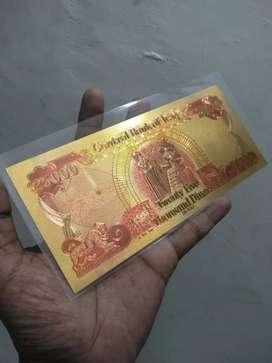 Uang Iraq 25.000 Gold Foil Souv New