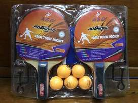 Paket bet blade tenis meja pingpong tiang net dan bola pp murah