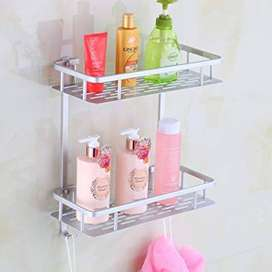 2 Layer Stainless Steel Bathroom Corner Shelf