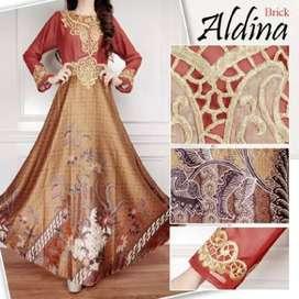 Alfiena Batik Flare Muslim Dress