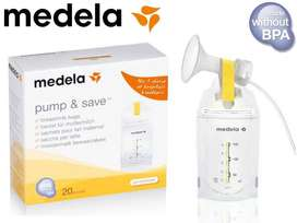 Medela Pump and Save Breast Milk Bags 20 Count Like Avent Tommee