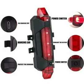 Lampu Belakang Sepeda USB Charger