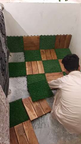 Grass Tile and woodtile