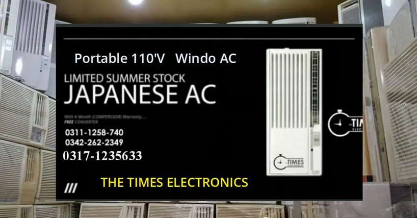110 WINDOW JAPANESE AC AND 220 WIND WEOW AC