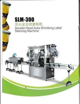Double Head Auto Shrinking Label Sleeving Machine