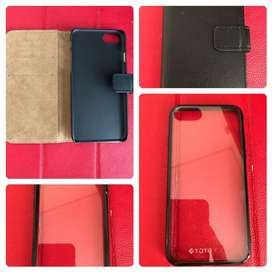 Leather Flip n Totu Soft Case Iphone 7/8