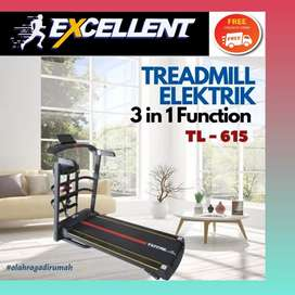 treadmill elektrik TL-615 G-47 alat olahraga lari