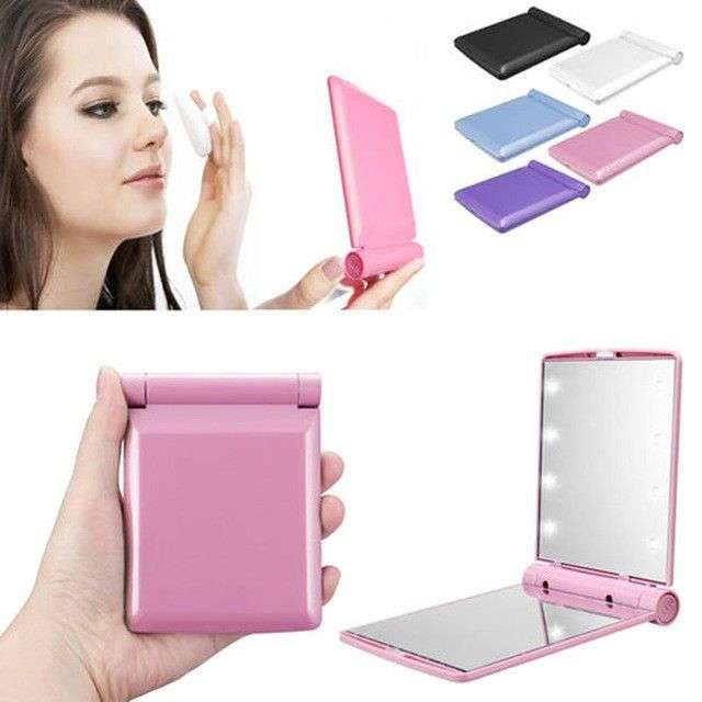 Cermin LED Makeup Mirror Kaca Rias Kosmetik Make Up Lampu Lipat 0