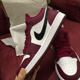 Nike Air Jordan 1 Low Maroon Shoes Original Brand New size 7