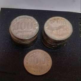 Uang 100 Rupiah Tahun 1973