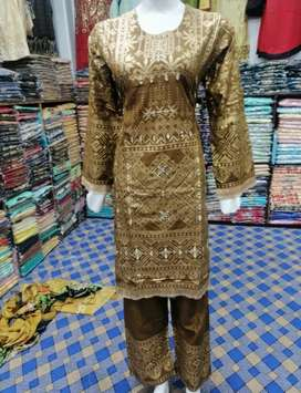 Linen shesha work 2 piece