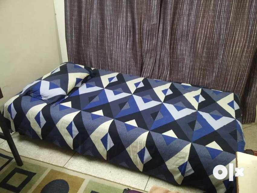 Mou bed with mattress (dark Grey) 0
