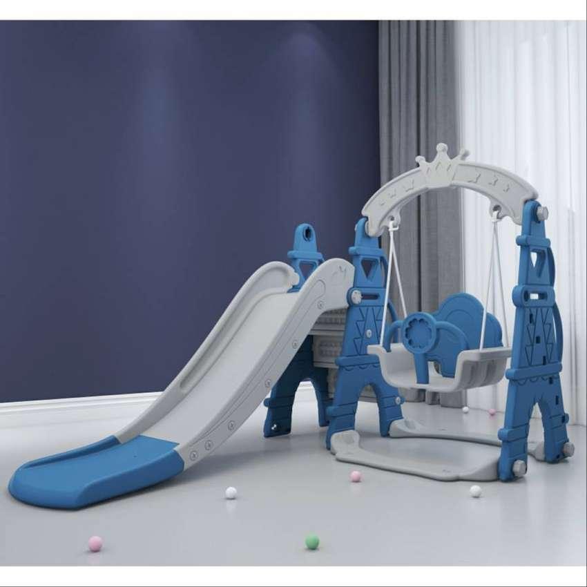 Baby Bliss Mainan Playground Anak Material PE Lengkap Plosotan, Ayunan