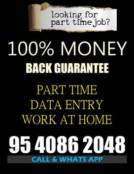 Data entry job part time work home based typing job offline work