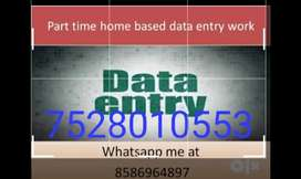 Home based data typing work available in India