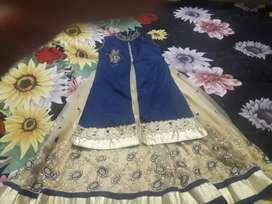 Blue golden dress