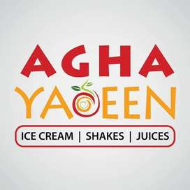 Aghayaseen juice and fast food restaurant required