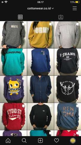 Sweater Jaket Hoodie Bekas Berkualitas Murah