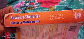 Business statistics and business mathematics book for( bcom)/b.b.a.