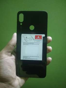 Redmi Note 7 pro back black glass panel