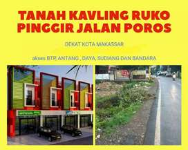 Dijual Tanah Kavling Ruko Gigit Poros Provinsi Belakang BTP Makassar