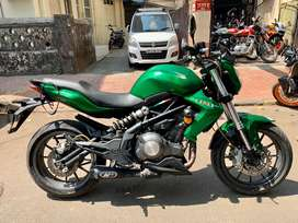 BENELLI TNT 300 2017 model with exhaust