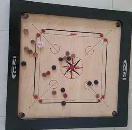 GSI Big XXL Brown Carrom board with cover
