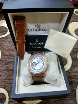 CHAIROS AUTOMATIC WATCH WITH BILL & BOX