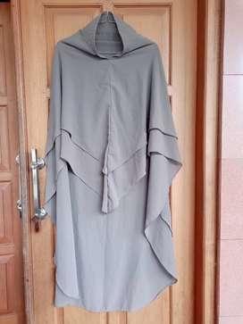 Preloved Khimar Dark Grey by Karita Hijab