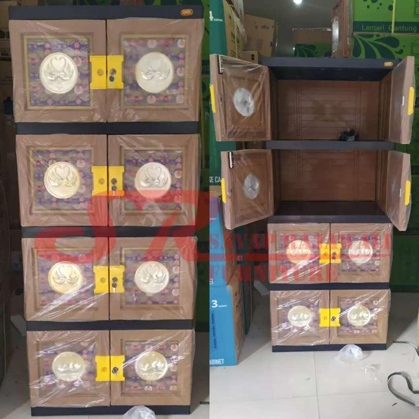 Lemari Plastik Naiba 9804 Batik Susun 4 Murah Area Jogja (dwi)