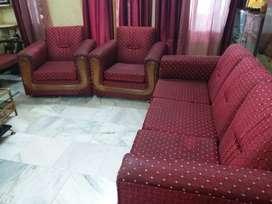 Sofa set with wheels
