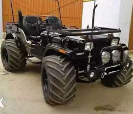 Black modified Willy jeep