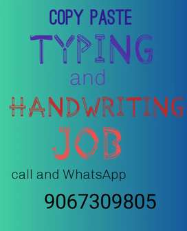 Hand writing and Home based typing work