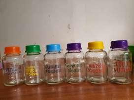 Botol Asi Kaca Rainbow Baby Pax isi 6 botol 150ml