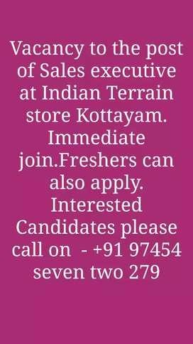 Sales Executive- Indian Terrain kottayam