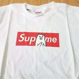 Supreme x rip n dip parody tee