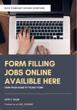 Work from your Home with us and earn cash- Form Filling Jobs