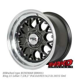 Buniwah R15 - HSRwheel Makassar Velg Mobil Racing Import