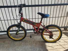 sepeda anak wimcycle minus ban bocor