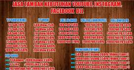 Jasa menambah followers media social