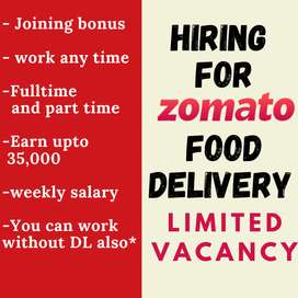 Food delivery job in Patna