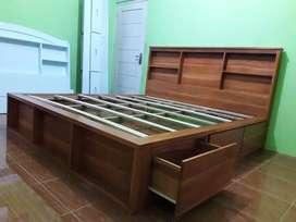 Tempat tidur pakai laci kayu jati #7