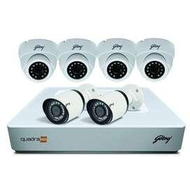 6 HD CCTV Camera setup installation-