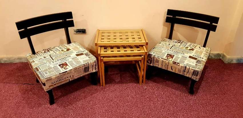Talli bed room chairs low profile Shisham 2 months used 0