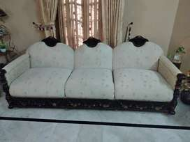 5 Seater Sofa with Glass Table Please only Msg Me..