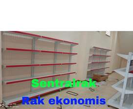 Rak gondola hemat ekonomis gudang trolley supermarket minimarket