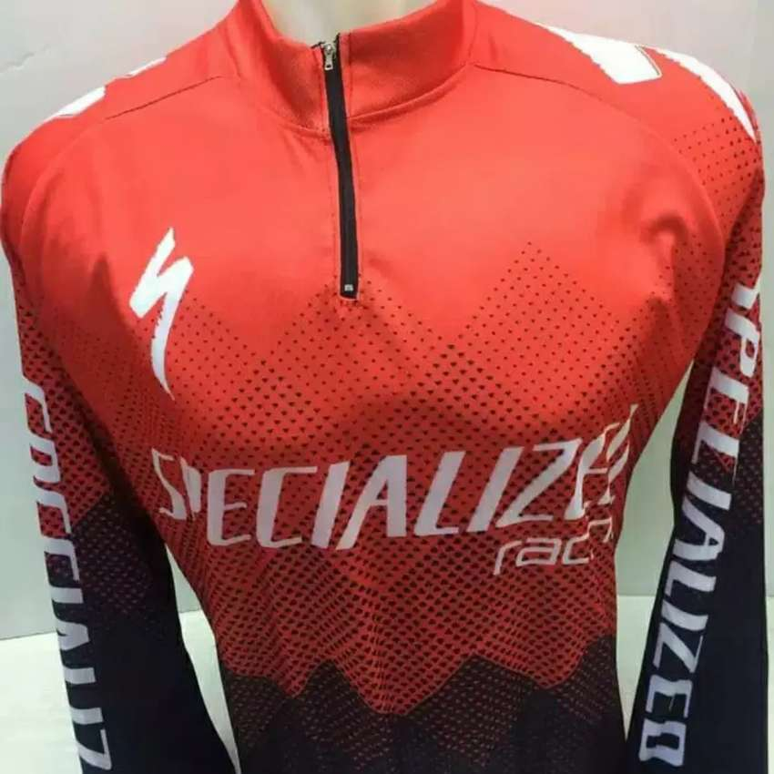 QR Baju Jersey Sepeda Ada Karet Pinggang dan Kantong Belakang