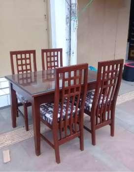 meja makan bahan jati kursi 4 siap antar